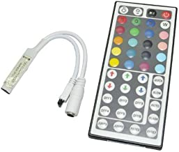 SaPeal 44 Keys Mini Ir Remote Controller for 3528 & 5050 RGB LED Strip Lights