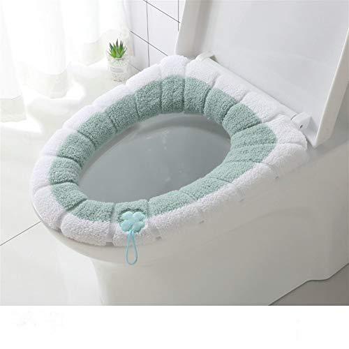 Wc-bril wc-bril hoezen, universeel kussen wc-stoelhoezen badkamer voiced vezels dikker warmer rekbaar wasbaar wc-deksel verkrijging wc-stoelen Rood