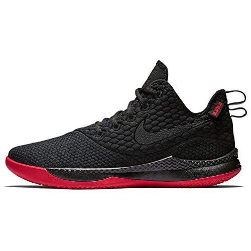 Nike Herren Lebron Witness Iii Basketballschuhe, Mehrfarbig (Black/Black/University Red 6), 41 EU