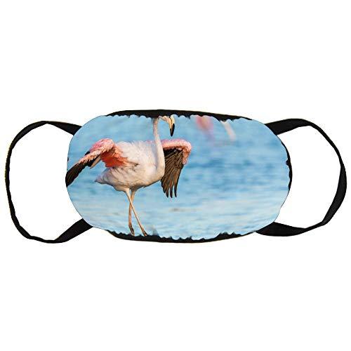 Unisex Mond Masker Anti-Stof Gezicht Mond Masker, Flamingo Veiligheid Herbruikbare Katoen Gezicht Masker voor Outdoor Sporten, Tuinieren, Reizen