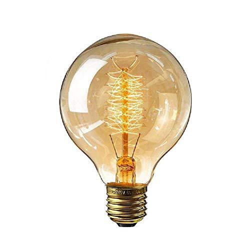 Bombilla LED, bombilla vintage E27, bombilla de filamento LED, 40 W, 150 lm, 2200 K, regulable, bombilla antigua para iluminación retro en restaurantes bar, no regulable, 1 unidad