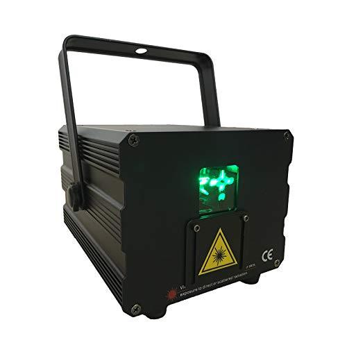 2W DMX RGB Animation Laser Projector Scanner Professional Stage Lighting DJ Disco Bar Club Party Wedding Effect Light (2W)