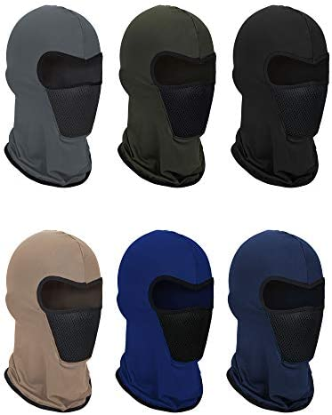 6 Pieces Summer Balaclava Face Mask Breathable Sun Dust Protection Mask Long Neck Cover for product image