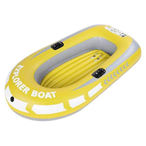 CUTULAMO Barca Gonfiabile, 90 kg di Carico, Kayak Gonfiabile in PVC Resistente, Barca Ad Aria con Design a Doppia Valvola...
