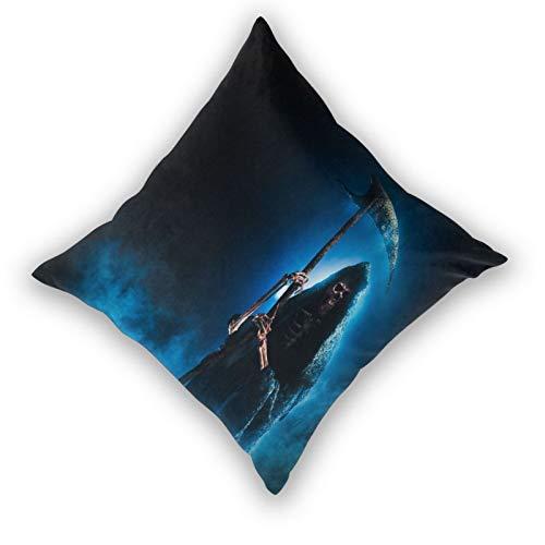AXEDENRRT 3D Print Throw Pillow Cover Case,Custom Made Backpack Grim Reaper Scythe On Smoky,Modern Pillowcase for Sofa Couch Bed Car Set Home Decor 20'x 20' Pillowcase Cushion Covers Zipper 2pcs