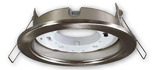 LED Einbaustrahler GX53 230 V alu gebürstet (Edelstahl Optik) - Einbauleuchte Spot Strahler für GX53 LED Leuchtmittel - Deckeneinbaustrahler Deckeneinbauspot Einbauspot für Deckenmontage