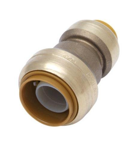 Sharkbite Push Fit Coupling, 3/4 x 1/2, Lead Free by Cash Acme