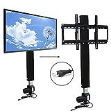 Motorisierte TV Lift Wandhalterung Elektrisch höhenverstellbarer Standfuß Flachbildschirme 70 CM Hublänge mit Fernbedienung