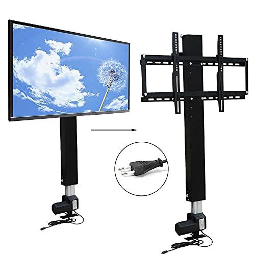 Soporte de pared motorizado para TV eléctrico, altura ajustable, 70 cm, con mando a distancia