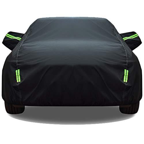 Autoabdeckung Kompatibel mit Chevrolet Camaro Hauben-Auto Persenning Sonnenschutz wasserdichter Auto-Abdeckung Körperabdeckung nehmen Gewohnheit (Color : Black, Size : Plus cotton)