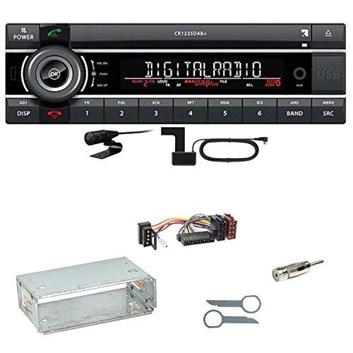 Kienzle CR 1225 DAB Digitalradio Bluetooth Autoradio CD USB AUX MP3 DAB+ Einbauset für Mercedes E-Klasse W124