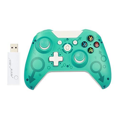 Manette sans fil pour Xbox One / Xbox One S / Xbox One X / PS3 / PC, Contrôleur de jeu sans fil 2.4G avec double vibration