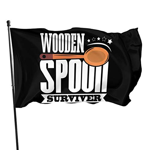 linjian Wooden Spoon Survivor 3' X 5' Indoor Outdoor Banner Endorses Garden Flag MAGA