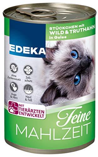 Edeka Feine Mahlzeit Katzenfutter mit Wild & Truthahn im 4er Pack (4 x 400g)