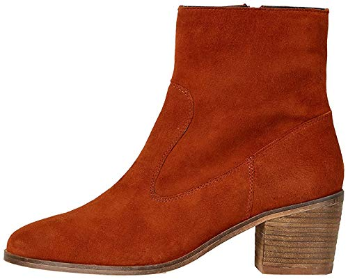 Amazon-Marke: find. Casual Suede Ankle Stiefeletten, Orange Spice), 39 EU