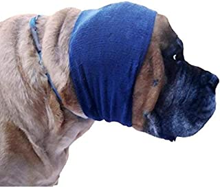 Happy Hoodie X-Large, Navy Blue for big dogs like Shepherds, Goldens, Chows, Malamutes, Pit Bulls, helps calm, comfort and protect your dog