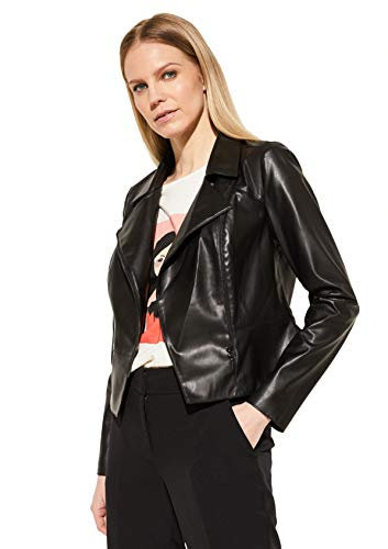 Comma (NOS) Damen 85.899.56.1080 Kunstlederjacke, 9999 Black, 36