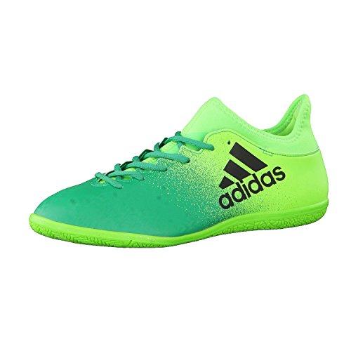adidas X 16.3 in, Scarpe per Allenamento Calcio Uomo, Verde (Versol/Negbas/Verbas), 44 EU