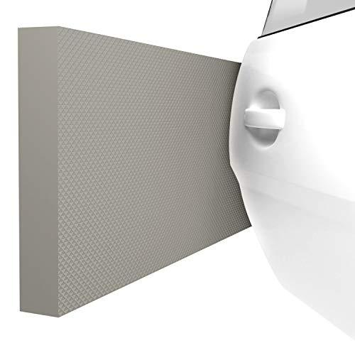 ATHLON TOOLS 4x MaxProtect Protectores de pared autoadhesivos para garaje, protección contra impactos (40 x 20 x 2cm, cada uno) (Gris)