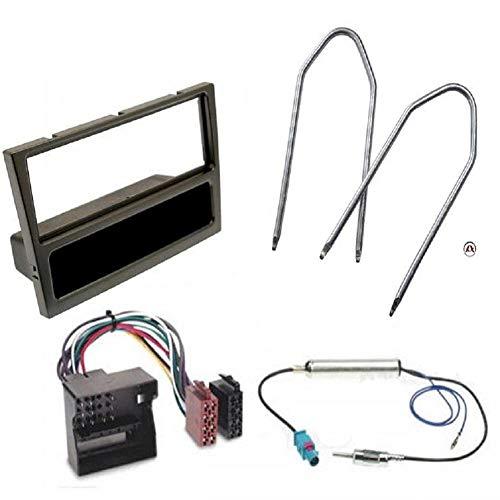 ADNAuto 45266 Kit Adaptateur Autoradio 1Din avec Vide-Poche Noir Combo C/ C/Tigra + Iso + Fm + Cles-Kitfac100.012