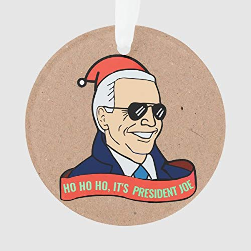 Diuangfoong Divertido presidente Joe Biden en gafas de sol adorno de Navidad