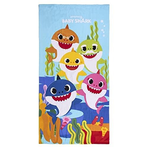 CERDÁ LIFE'S LITTLE MOMENTS CD-22-7259 - Toalla de Playa de Baby Shark para Niños con Licencia Oficial Nickelodeon