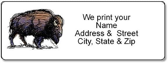 American Buffalo Address Label - Customized Return Address Label - 90 Labels