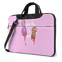 Rick Morty Bolsa para ordenador portátil 14 15 16 pulgadas maletín bandolera repelente al agua bolsa portátil Satchel Tablet negocios llevar bolso para mujeres y hombres