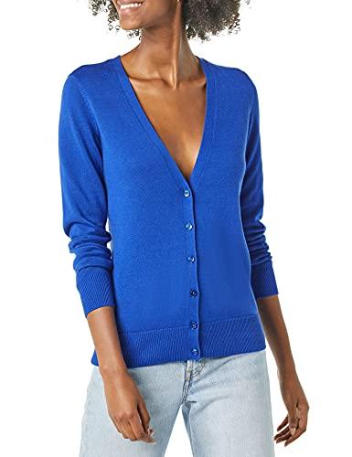 Amazon Essentials Lightweight Vee Cardigan Suéter, Azul Brillante, L