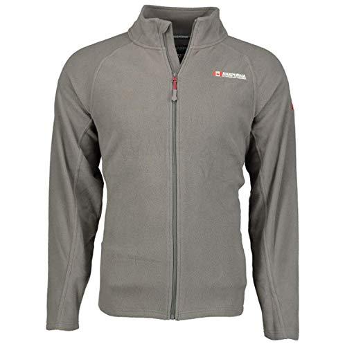 Anapurna Tonneau Sweat-shirt polaire pour homme Full Zip 2 poches avant manches longues