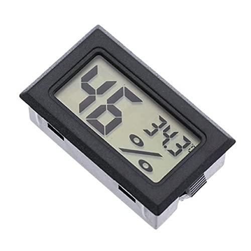 KoelrMsd Termómetro portátil Integrado Higrómetro Inalámbrico electrónico Digital Temperatura Interior Medidor de Humedad
