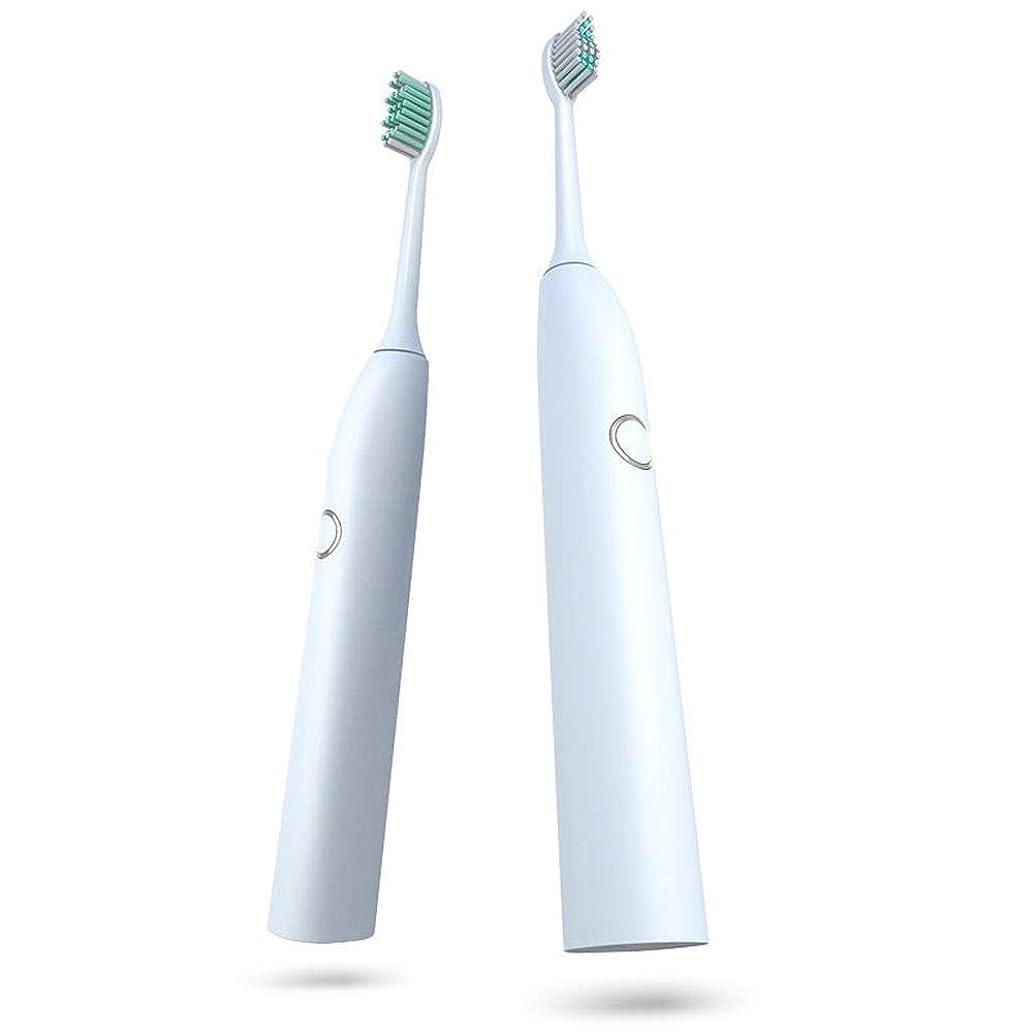 カジュアル軽ただやる電動歯ブラシ 電動歯ブラシ防水USB充電式ソフトヘア歯ブラシきれいな美白歯科医日常の使用に 大人と子供向け (色 : 白, サイズ : Free size)