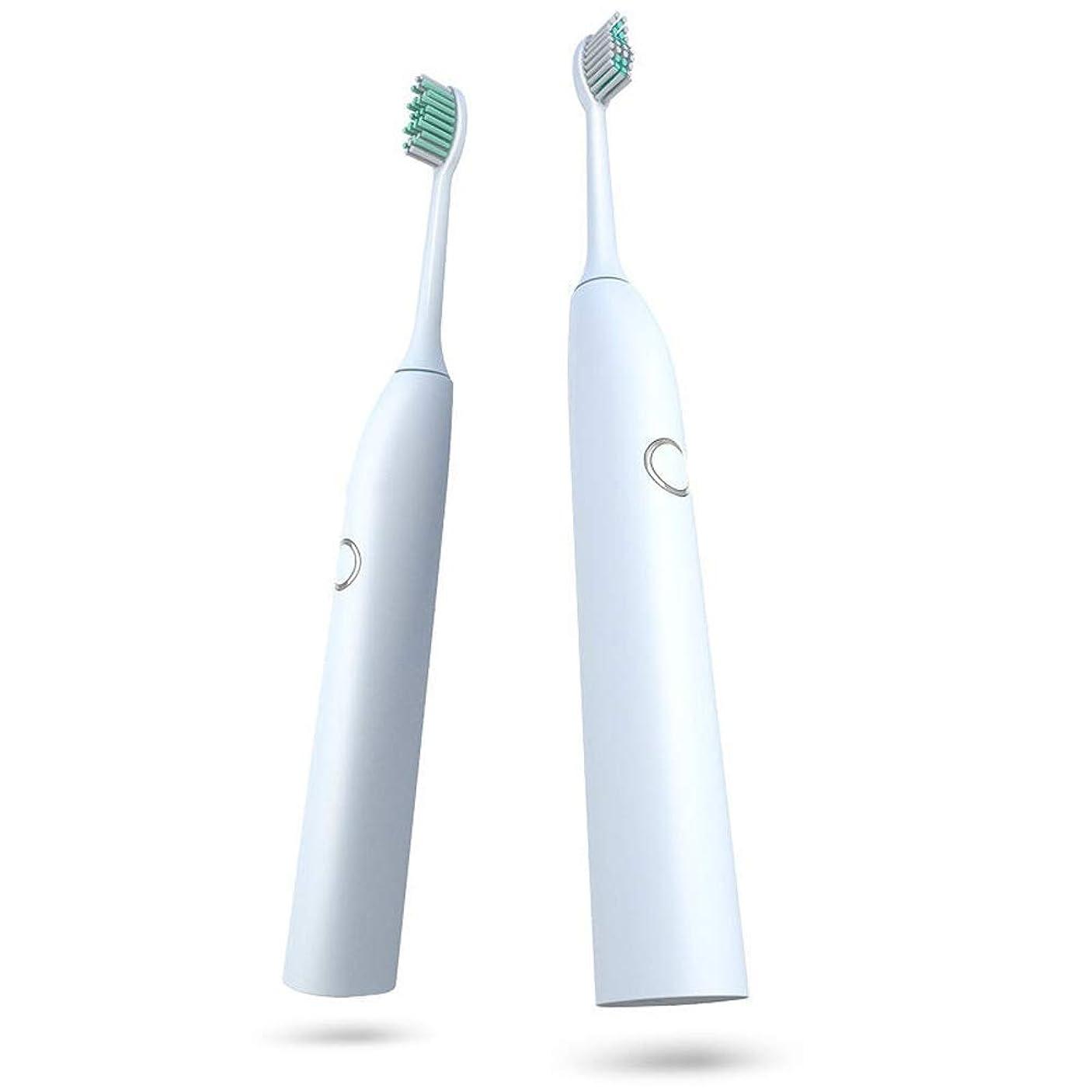 起業家根絶する形容詞電動歯ブラシ 電動歯ブラシやわらかい歯ブラシきれいなホワイトニング歯科医推奨防水USB充電式 (色 : 白, サイズ : Free size)