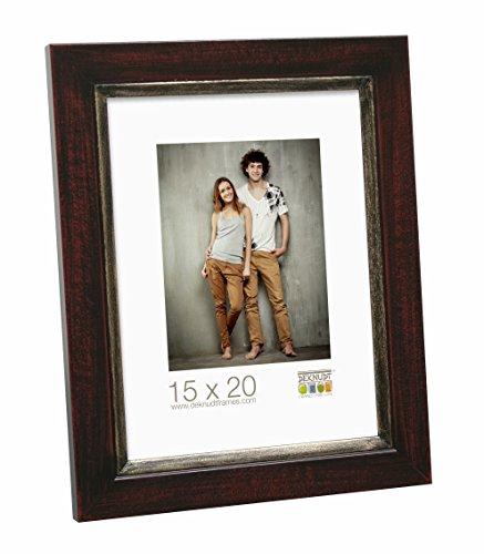 Deknudt Frames S42LF9-15.0X20.0 Bilderrahmen, Holz, 26 x 21 x 1,5 cm, Braun/Schwarz