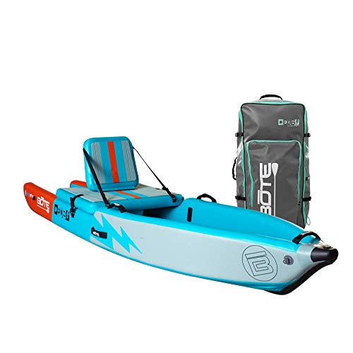 BOTE Deus Aero Inflatable Kayak & Stand Up Paddle Board with Accessories | Pump, Fin, Travel Bag (Native Teal)