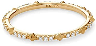 Kendra Scott White Diamond Astrid Ring in 14k Yellow Gold, Fine Jewelry for Women