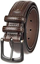 Columbia Men's Classic Logo Belt-Casual Dress with Single Prong Buckle for Jeans Khakis, Brown, 36