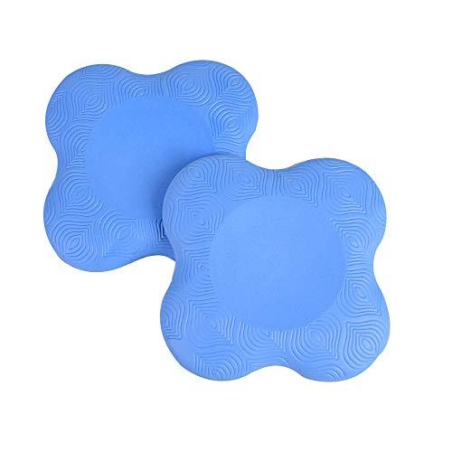 Bolange Rodilleras de yoga, 2 piezas de apoyo antideslizante para yoga, cómodas y ligeras, almohadillas de yoga para rodillas, manos, muñecas y codos