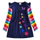 VIKITA 2017 New Kid Girl Embroidery Cotton Dress Long Sleeve LH5808 5T