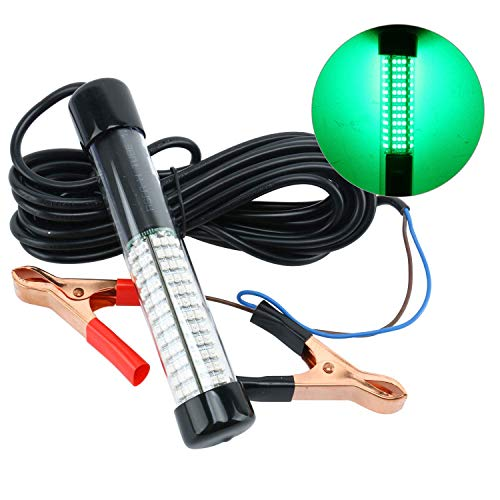 Amarine Made 12v 180 LED 10.8W 900 Lumens LED Submersible Fishing Light Underwater Fish Finder Lamp (Green)