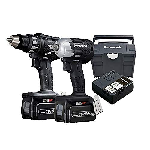 Panasonic EYC 230 LJ2G Twin-Kit: 18V Drill+Screwdriver, with 2 5.0 Ah Batteries and Charger