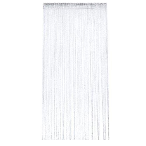 Yinew Spaghetti String Vorhang Panel Dichte, Polyester Quaste für Vorhänge, Polyester, weiß, Siehe Produktbeschreibung