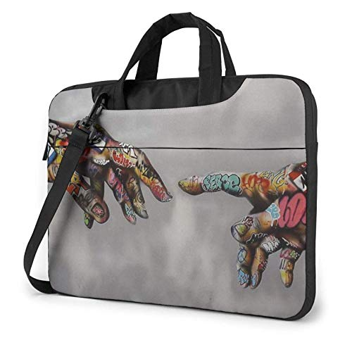 Graffiti Hand Laptop Bag Messenger Bag Maletín Satchel Shoulder Crossbody Sling Bolsa de Trabajo