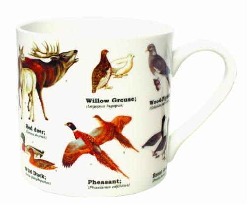 Gift Republic - Taza de Porcelana China, diseño de Animales Salvajes, Multicolor