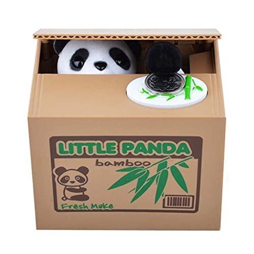 XHAEJ Hucha creativa Huchas Panda ladrón cajas de dinero Hucha regalo niños cajas de dinero robó automática banco de monedas caja de ahorro de dinero Huchas