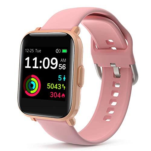 LIDOFIGO Smartwatch,Fitness Tracker mit Pulsuhren,1.3 Zoll Farb Touchscreen Fitness Armbanduhr Wasserdicht IP68 Fitness Uhr mit Schlafmonitor Schrittzähler Uhr Damen Smart Watch für Android iOS Handy