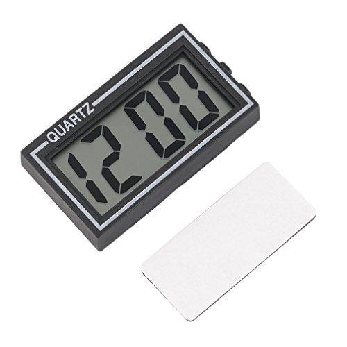 LKHF Reloj de Tablero de Coche de Mesa LCD Digital Negro, Reloj electrónico, Calendario de Fecha y Hora de Escritorio Digital electrónico, Reloj pequeño