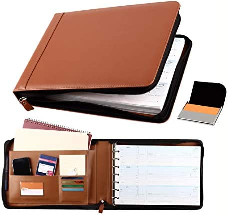 2Fold Supply Zippered Business Check Binder 7 Ring for 3 Up Business Size Checks with Extra product image