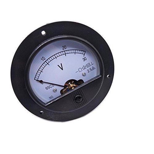 meter voltmeters DC 0-30V Round Analog Volt Pointer Needle Panel Meter Voltmeter