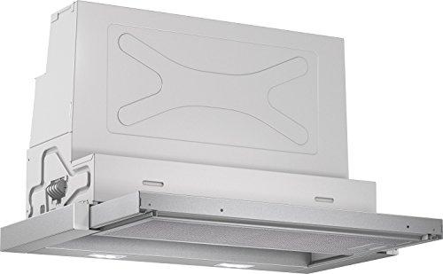 Bosch DFR067A50 Serie 4 Flachschirmhaube / B / 60 cm / Silbermetallic / wahlweise Umluft- oder Abluftbetrieb / Wippenschalter / Silence / Intensivstufe / Metallfettfilter (spülmaschinengeeignet)